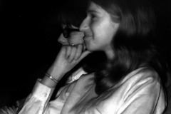 Infrared photos of kids watching Beatles movie