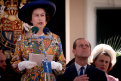 Queen Eliizabeth II and Prince Philip visit the Bahamas Feb. 20-21, 1975.