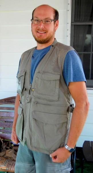 Matt Steinhoff modeling my Domke Vest 07-16-2009