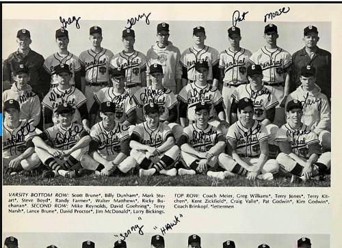 1969 Girardot Terry Jones w baseball team P 14 500x363 Koran Burning Preacher Terry Jones and Rush Limbaugh: Class of 69