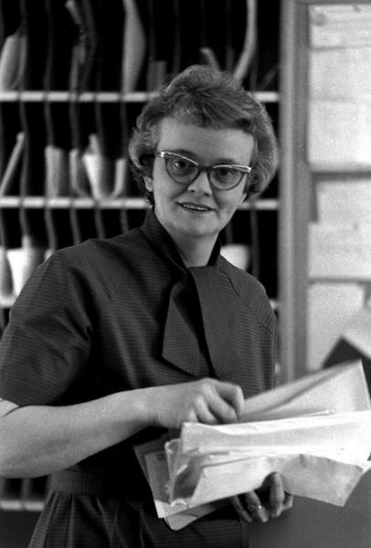 Mrs Helen Moore Central High School secretary c 1964 406x600 Miss Ketterer and Mrs. Moore