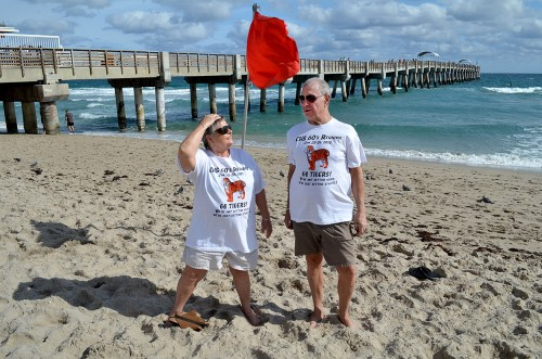 Lila Steinhoff - Bill Jackson promote 66 Fla reunion LW Beach 12-31-2013