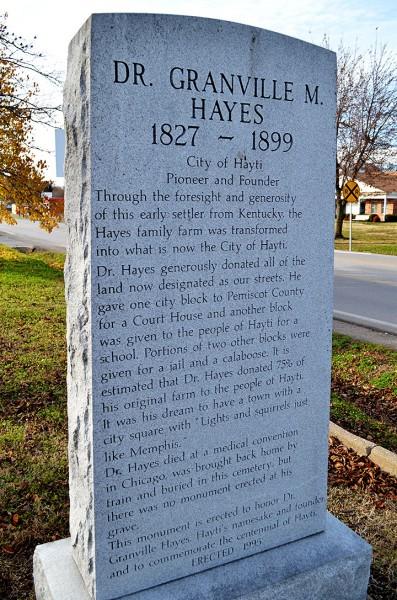Hayes Cemetery - Hayti - 11-23-2013