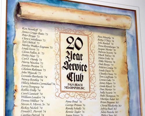 PBNI 20-Year Club members 08-17-2008