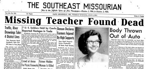 1954-07-06 Missourian - Bonnie Huffman